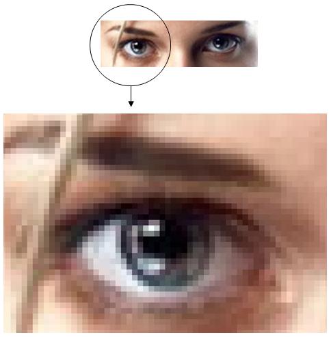 ступенчатый эффект при увеличении растрового изображения
