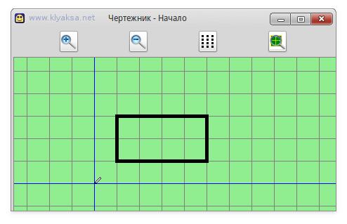 Чертежник - прямоугольник