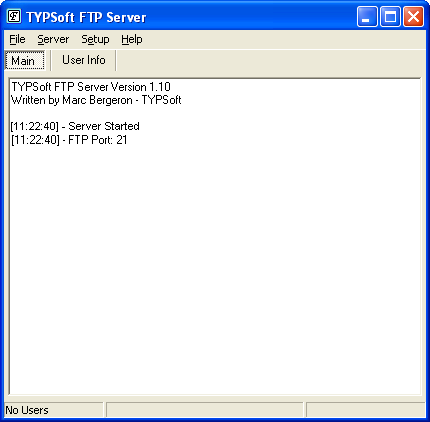 TYPSoft FTP Server